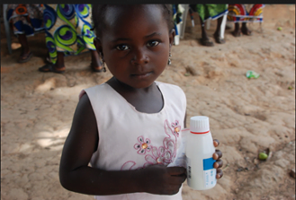 Temitope, a six year-old girl with an ear infection, received treatment from a Ripples doctor.